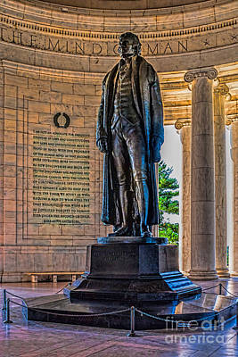 Photograph - Jefferson In The Memorial by Nick Zelinsky