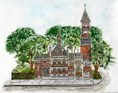 Painting - Jefferson Market Library by AFineLyne