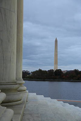 Sites Photograph - Jefferson Memorial And Washington Monument - Washington Dc - 01131 by DC Photographer