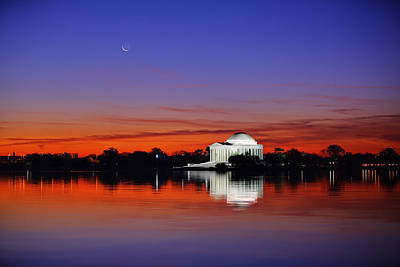 Jefferson Memorial At Dawn Art Print by Metro DC Photography