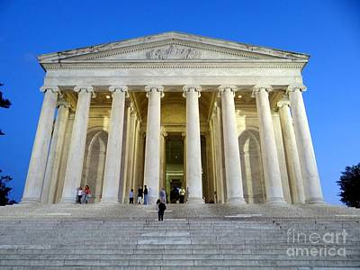 Photograph - Jefferson Memorial At Dusk by Ed Weidman