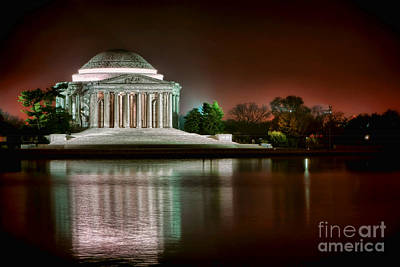 Jefferson Memorial At Night Art Print