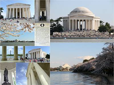 Photograph - Jefferson Memorial Collage  by Allen Beatty
