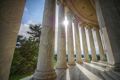 Jefferson Memorial Digital Art - Jefferson Memorial Columns by Eric Hayden