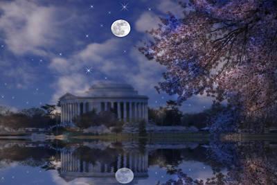 Jefferson Memorial Digital Art - Jefferson Memorial by David Simons