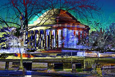 Jefferson Memorial Digital Art - Jefferson Memorial In The Winter by Keven Reynolds