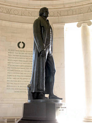 Statesmen Photograph - Jefferson Memorial In Washington Dc by Olivier Le Queinec