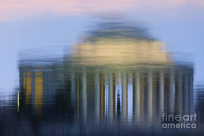Jefferson Memorial Reflection Art Print by Clarence Holmes