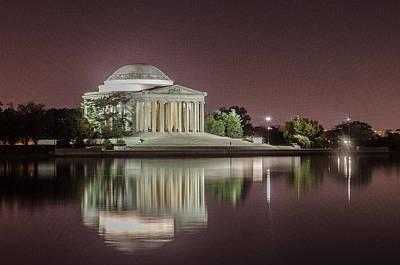 Statesman Digital Art - Jefferson Memorial by Ryan Johnson