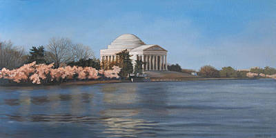 Jefferson Memorial Painting - Jefferson Memorial by Suzanne Shelden