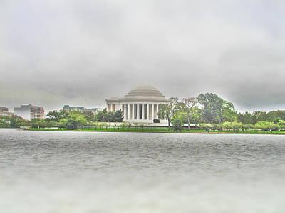 Jefferson Memorial Digital Art - Jefferson Memorial - Washington Dc by Bill Cannon