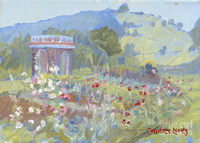 Monticello Painting - Jefferson's Garden Monticello by Candace Lovely
