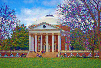 Jefferson's Rotunda At Uva Art Print