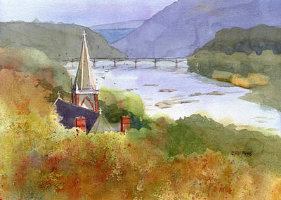 West Virginia Painting - Jeffersons View by Kris Parins