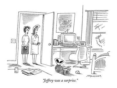 Jeffrey Was A Surprise Art Print