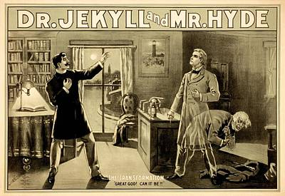 Jekyll And Hyde Story Illustration, Art Print