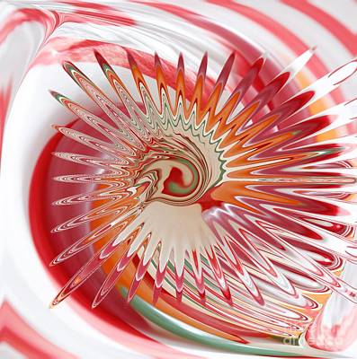 Hard Candies Digital Art - Jelly Bean Swirl Abstract by Liane Wright