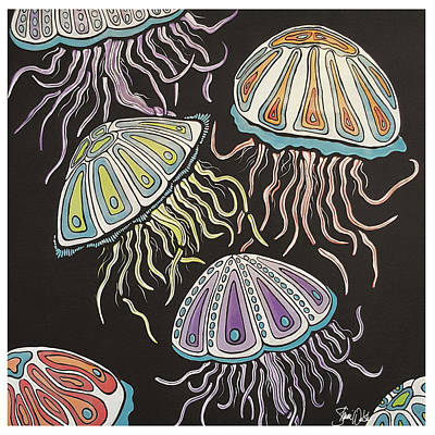 Jelly Fish Dance Art Print by Shanni Welsh