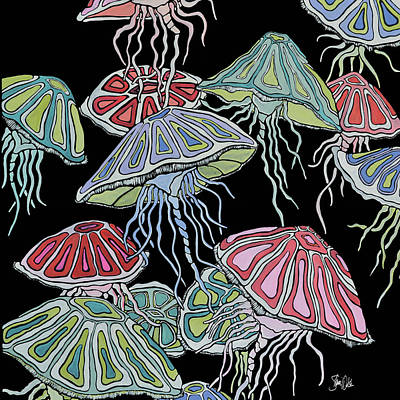 Jelly Fish Painting - Jelly Fish II by Shanni Welsh