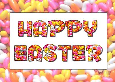 Digital Art - Jellybean Easter by JH Designs