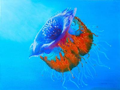 Painting - Jellyfish by Maris Sherwood