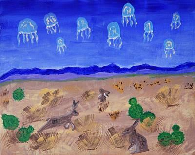 Jellyfish Migration Across Arizona Art Print