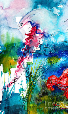 Painting - Jellyfish Watercolor by Ginette Callaway