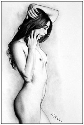 Drawing - Jem - Print Only by Joseph Ogle