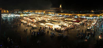 Jemaa El-fna At Night, Marrakesh Art Print