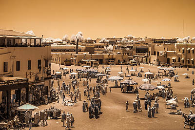 Photograph - Jemaa El Fna Market In Marrakech At Noon by Ellie Perla