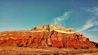 550 Digital Art - Jemez Canyon Red Bluff by Jim Buchanan