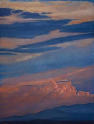 Painting - Jemez Mountain Sunset by Jack Atkins