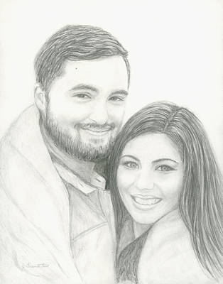 Painting - Jen And John by Jeannette Tramontano