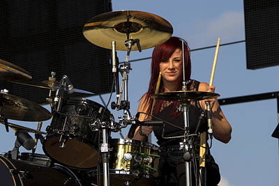 Concert Photograph - Jen Ledger Of Skillet by Billy Torma