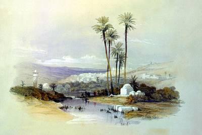 Holy Land Digital Art - Jenin Ancient Jezreel 1839 by Munir Alawi