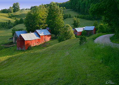 Photograph - Jenne Farm In Reading Vermont by Nancy Griswold