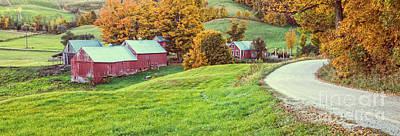 Photograph - Jenne Farm Vermont Panoramic by Edward Fielding