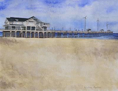 Nag Painting - Jennette's Fishing Pier by Valentina Copeland