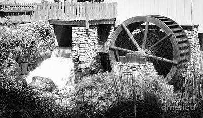 Photograph - Jenney Mill In Black And White by Carol Lynn Coronios
