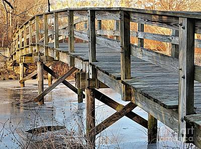 Photograph - Jenney Pond Footbridge by Janice Drew
