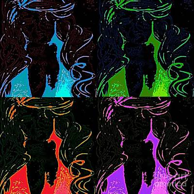 Digital Art - Jenni Rivera 4 Pack  by James Eye