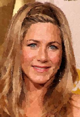 Painting - Jennifer Aniston Portrait by Samuel Majcen