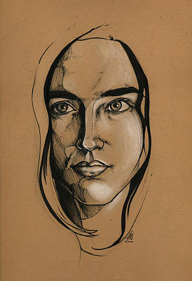 Drawing - Jennifer Connelly by John Ashton Golden