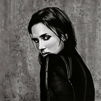 Black Diamonds Painting - Jennifer Connelly Painting by Paul Meijering