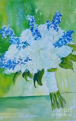 Watercolor With Pen Painting - Jennifer 's Wedding Bouquet.  1.2.2015 by Jill Morris