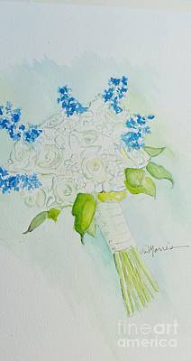 Painting - Jennifer's Wedding Bouquet by Jill Morris