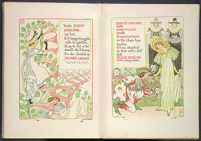 Jenny-creeper And Sweet William Art Print by British Library