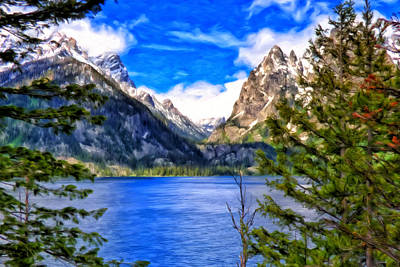 Art Print featuring the painting Jenny Lake by Michael Pickett