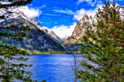Wyoming Painting - Jenny Lake by Michael Pickett