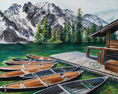 Wall Art - Painting - Jenny Lake by Paula Noblitt